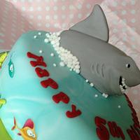Shark Cake by Sugar Sweet Cakes