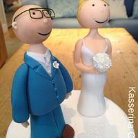 Naive bride and groom cake topper - August 2015