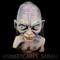 Smeagol bust cake