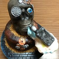 Skull with e-cig