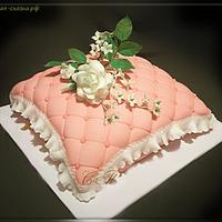 """Cake """"Pillow with Flowers"""""""