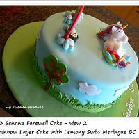 Rainbow cake with a unicorn by Linda Kurniawan