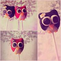 Little owl best friends cake pops