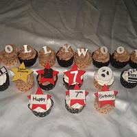 Hollywood Theme Cupcakes