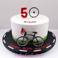 Cyclist birthday cake