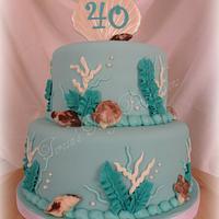Aqua Sea themed 40th