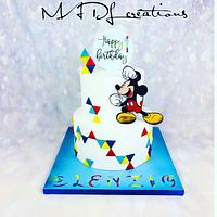 Mickey cake party