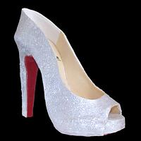 Louboutin Stiletto Peep-Toe Pump
