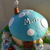 Smurfs Winter Cake