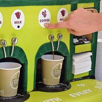 Working Coffee Machine Cake for MacMillan Coffee Morning