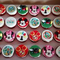 1st Birthday Mickey Mouse Clubhouse cupcakes