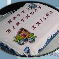 Enamel Effect on a Cake by CakesbySasi