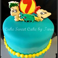 Phineas and Ferb cake by Cake Sweet Cake By Tara