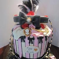 Open Hat Box Cake