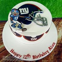 Superb Alan New York Giants Birthday Cake Cake By Niamh Cakesdecor Funny Birthday Cards Online Inifofree Goldxyz