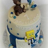 Teddy bear and SpongeBob