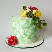 """ Hexagon cake"""