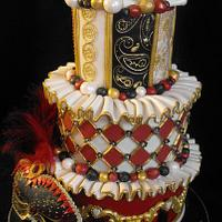 3 tier masquerade ball cake