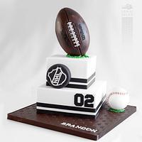 Multi sports themed cake