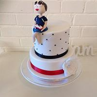 Figure on two tiered cake
