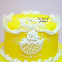 ROYAL ICING-  BIRD AND FLOWER