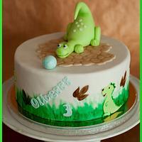 Dinosaurrr cake