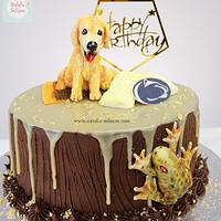 Dog and frog cake| Natalia Salazar