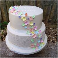 Pastel rainbow wedding