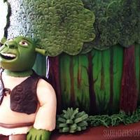 2 Tier Shrek Cake