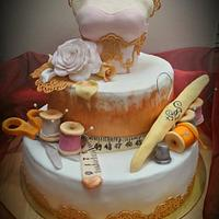 Tailor and fashion designer cake