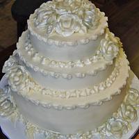 Buttercream Diamond Anniversary cake