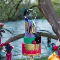 Vibrant Bohemian Cake