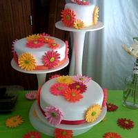 Gerber Daisy Wedding Cake by Courtney Healan