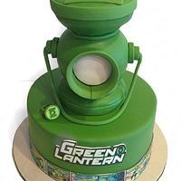Green lantern grooms cake