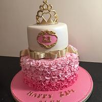 Ruffles 21st cake