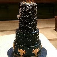 Deep Blue Royal Cake