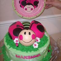 Lady Bug cake by LisaB