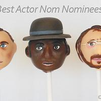 Oscars Best Actor Nominee Cake Pops