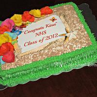 Graduation Luau Cake
