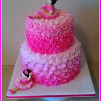 Pink ombre ballerina cake by Tiffany Palmer