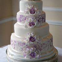 Violet vintage cake