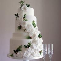 Winter/Christmas Wedding Cake