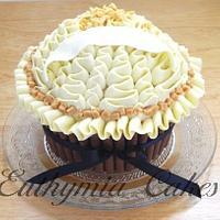 Anniversary Giant Cupcake with Ruffles