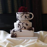 Vine & Coffee Wedding Cake