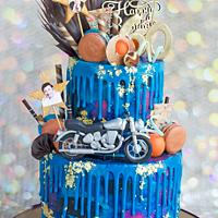 Galaxy Drip Cake ..