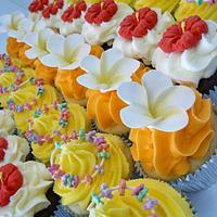 Hawaiian inspired cupcakes