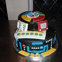 80s theme 30th Birthday cake