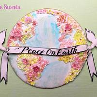 Piece on Earth cookie for Cakes Against Violence