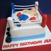 Boxing Ring Cake by Lydia Evans