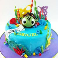 Squirt cake from Finding Nemo by Hot Mama's Cakes